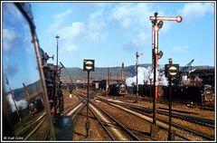 Ein besonderes Foto vom einstigen Eisenbahnbetrieb Bahnhof Saalfeld