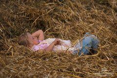 Ein Bett im Stroh