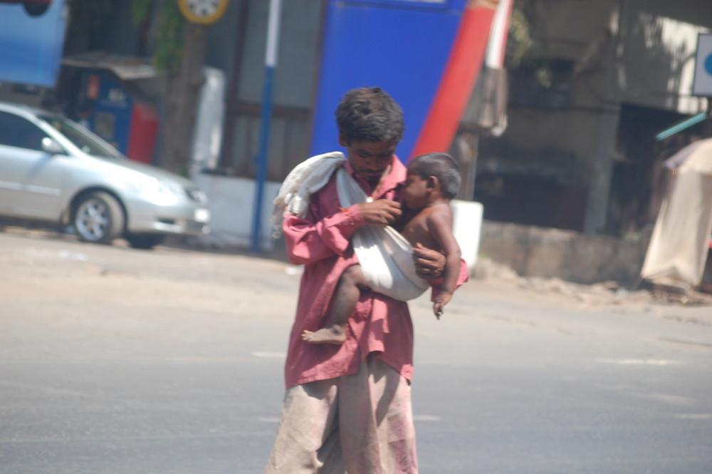 Ein Bettler in Goa