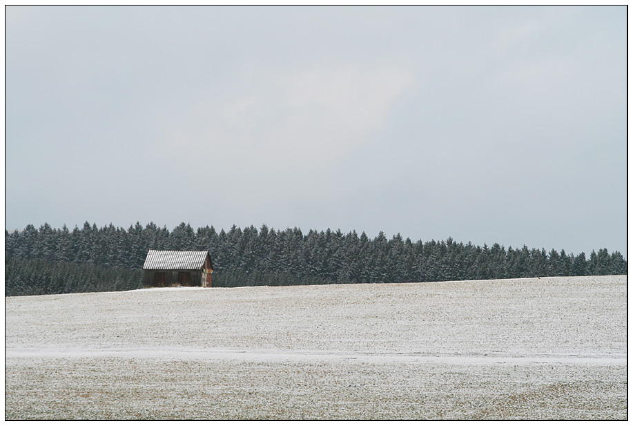 Ein bisschen Winter war noch übrig.............