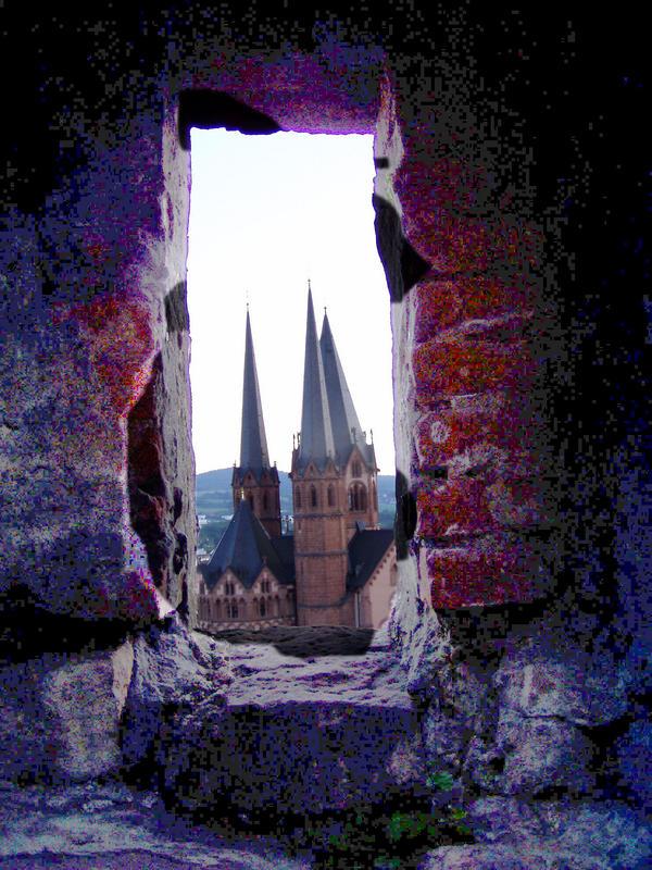 ein Blick auf die Marienkirche in Gelnhausen