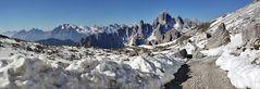 Ein Blick zurück auf dem Weg zum 2433 m hoch gelegenen Rif. Locatello, wo...