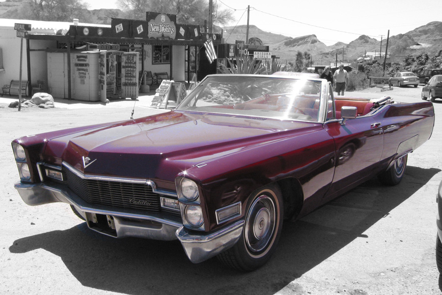 Ein Cadillac irgendwo in Amerika