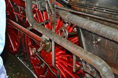 Ein Detail des Fahrwerks der Dampflok 01