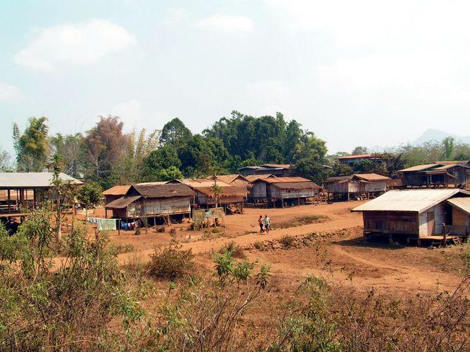EIn Dorf auf dem Bolaven-Plateau