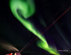 Ein drittes Mal Polarlichter in voller Fahrt