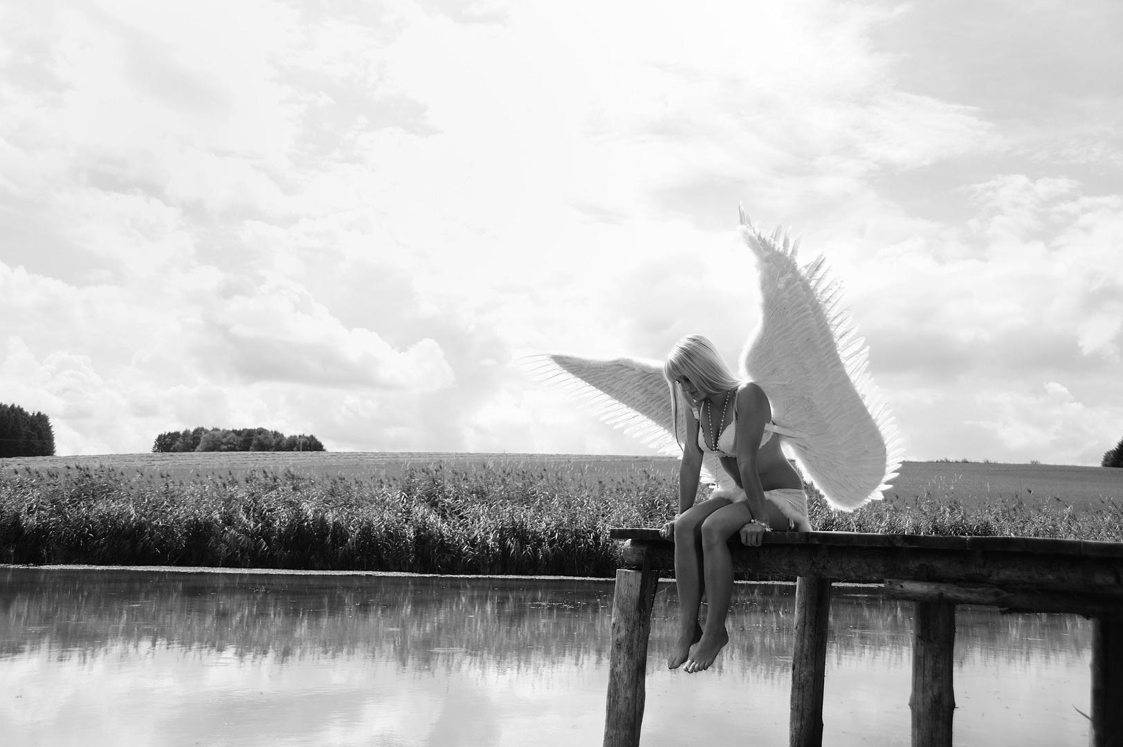 Ein einsamer Engel