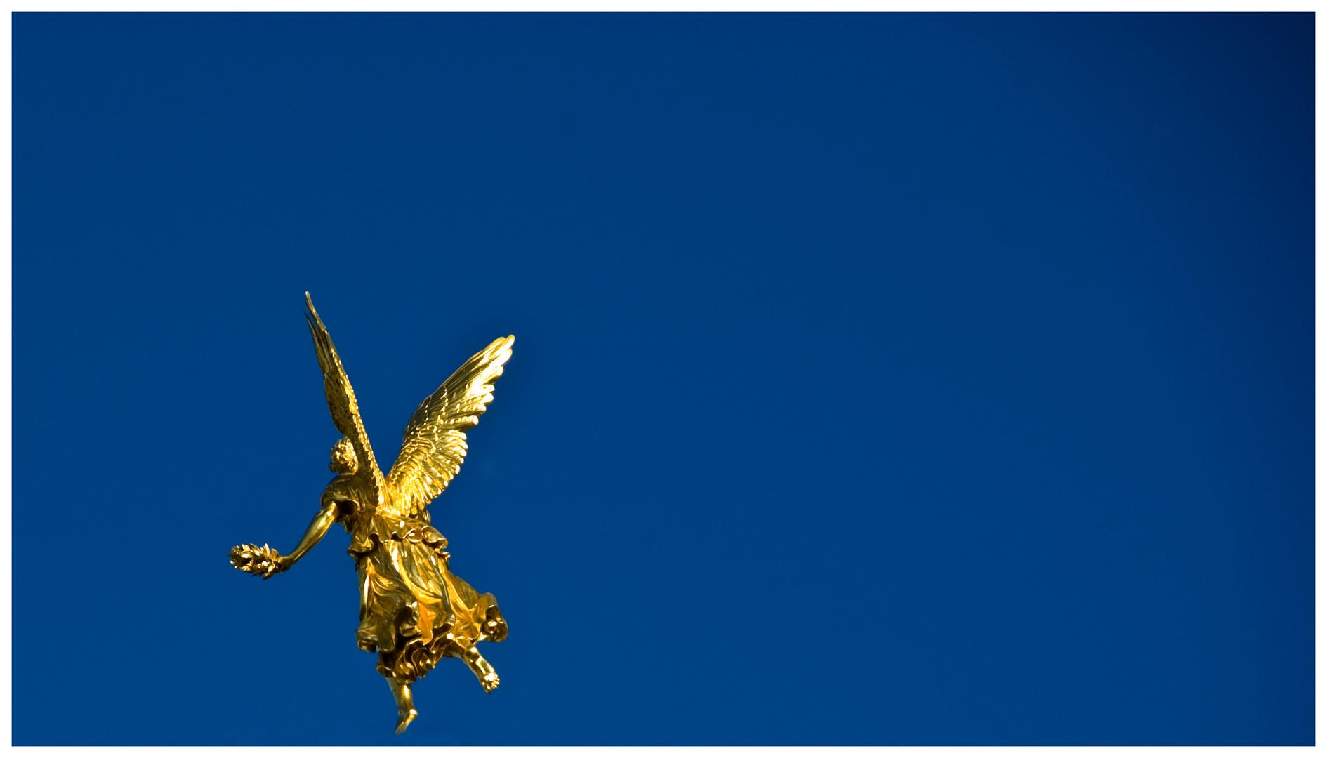Ein Engel macht Urlaub - Engel vom Dach der Kunstakedamie Dresden