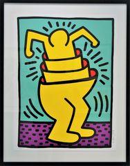 - ein Farbsiebdruck von Keith Haring ...