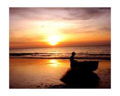 ein Fischer am Morgen