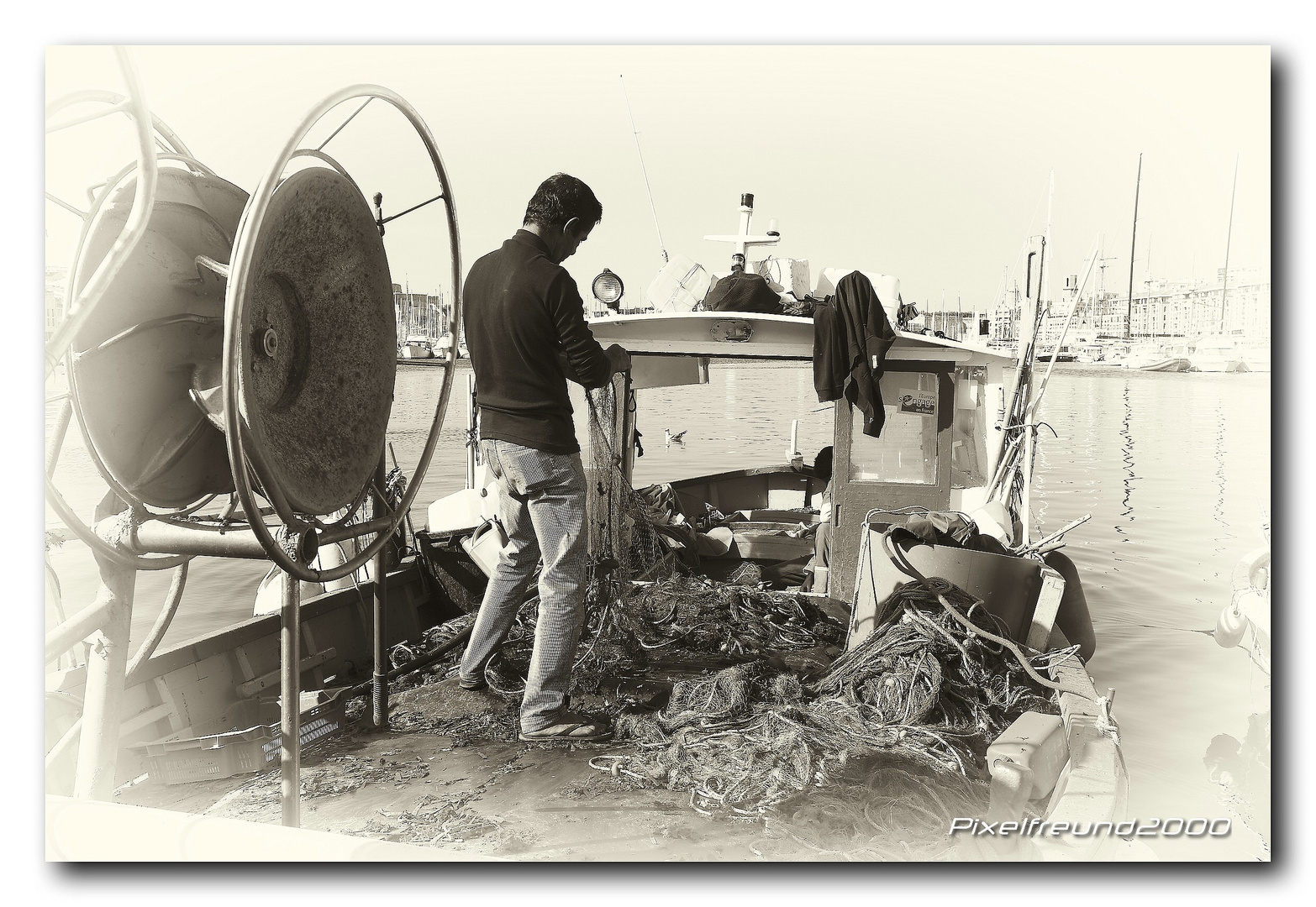 Ein Fischer in Marceille