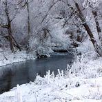 Ein Fluss der Kälte trotzend