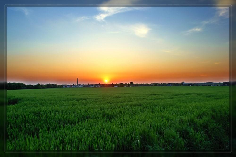Ein frischer Sonnenuntergang