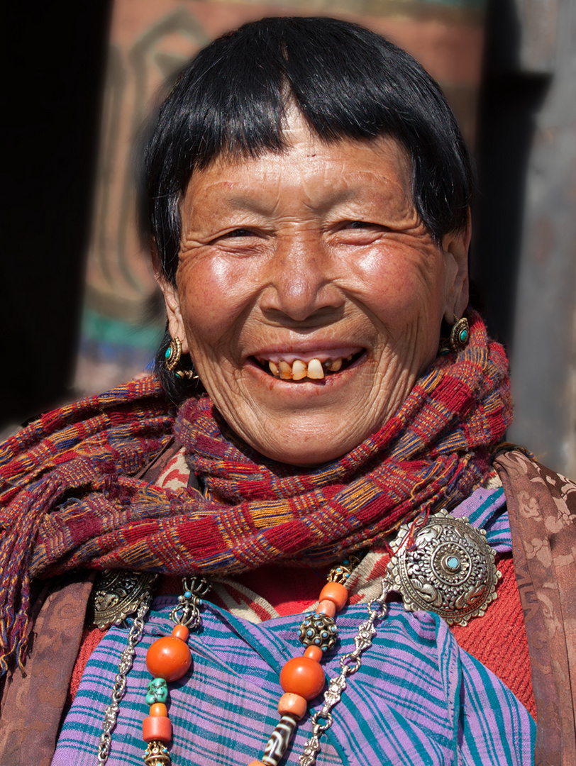 Ein fröhliches Gesicht - und schon lacht die Sonne. © Phil Bosmans