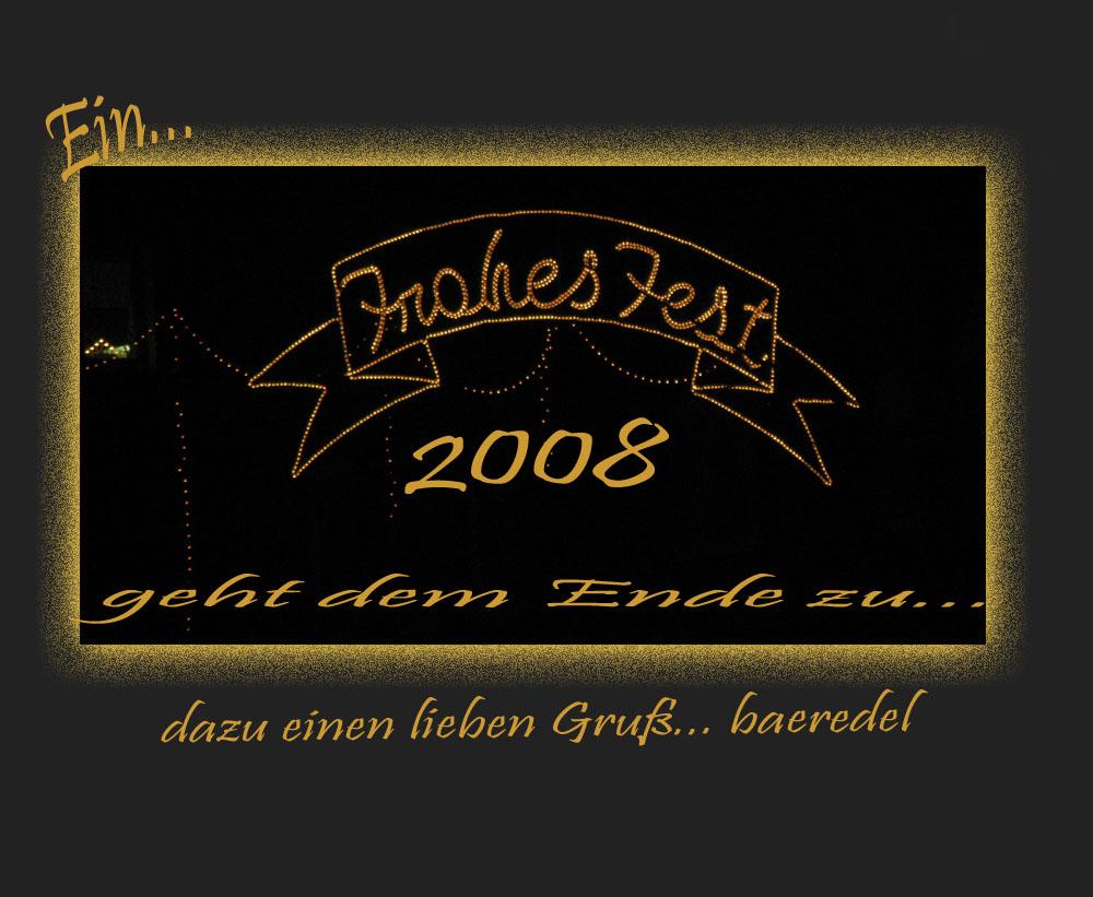 * Ein frohes Fest geht zu Ende 2008 *