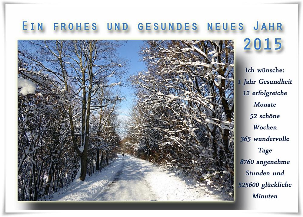 Ein frohes und gesundes neues Jahr 2015 Foto & Bild | karten und ...