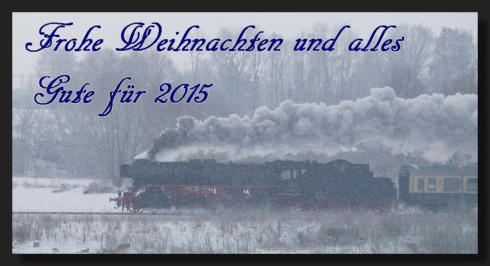 Ein frohes Weihnachtsfest und alles Gute für das Jahr 2015