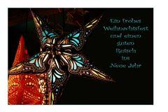 Ein frohes Weihnachtsfest wünsche ich euch allen.....