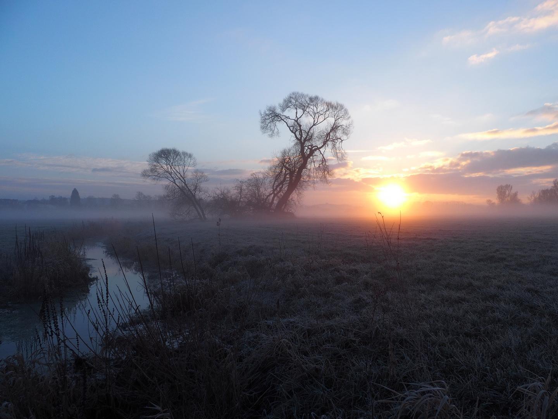 Ein frostiger Morgen in der Schwalm