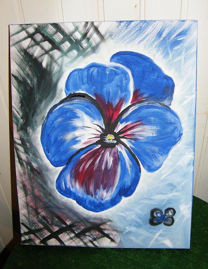 Ein Frühlings- Blümchen hab ich gemalt...