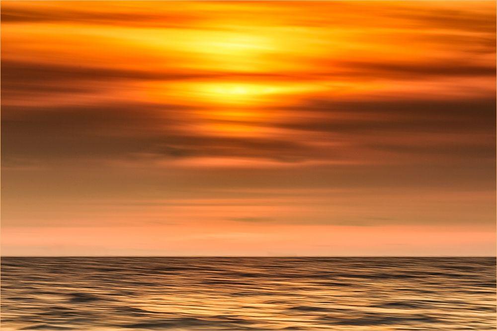 Ein ganz unspektulärer Sonnenuntergang ...