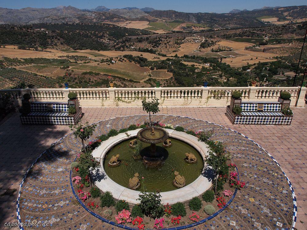 Ein Garten in Ronda
