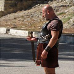Ein gelangweilter Gladiator