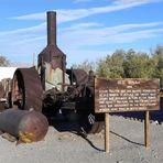 Ein gewaltiger Dampftraktor der früheren Siedler