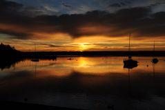 Ein gewaltiger Sonnenuntergang am Ammersee