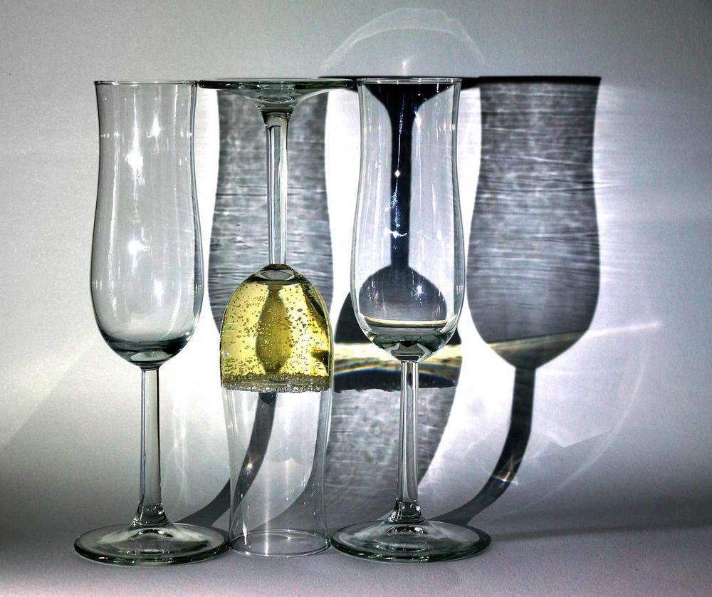 ein Glas Sekt