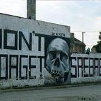 ein Graffiti Mahnmahl in Sarajevo