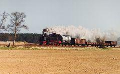 Ein Güterzug in Meck-Pomm 1999