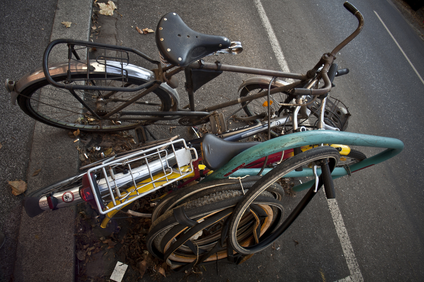 ein haufen fahrrad