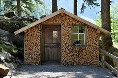 Ein Haus voll Holz.