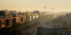 ein Herbstmorgen in der Stadt