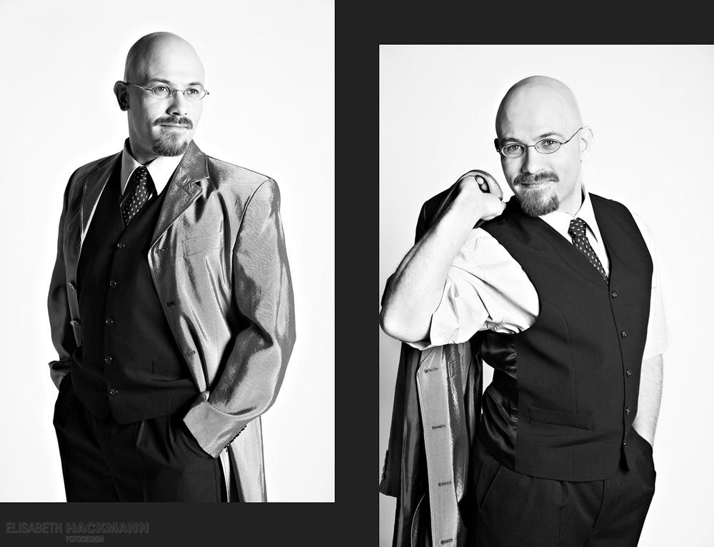 ein Herr im Anzug ;)