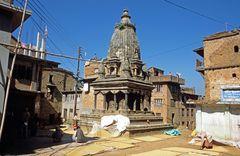 Ein Hindu-Tempel in der Newarstadt Kirtipur.