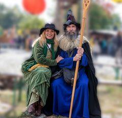 Ein huebsches   Paar auf dem Mittelalterfest