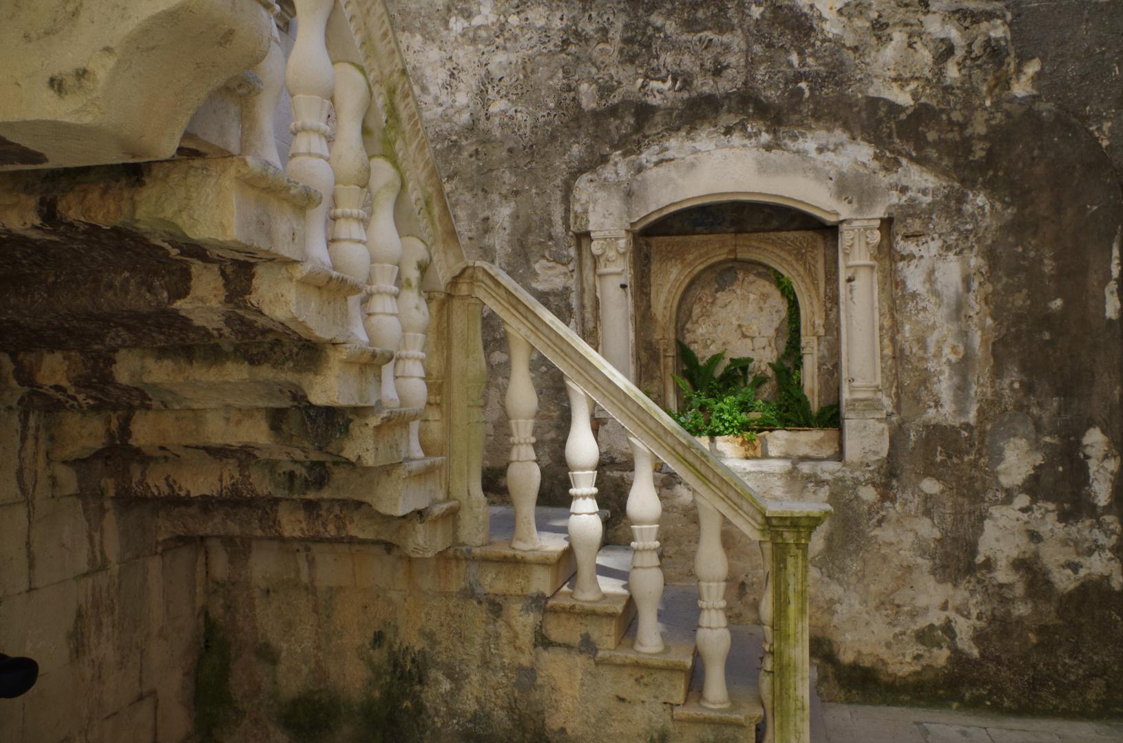 Ein Innenhof in Korcula