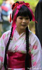 Ein junges japanisches Mädchen.