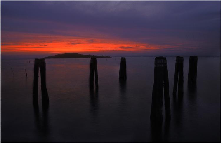 Ein kalter Abend am Lago Transimeno