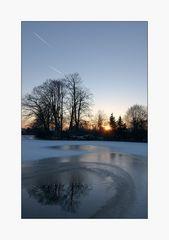 Ein kalter, klarer Winterabend