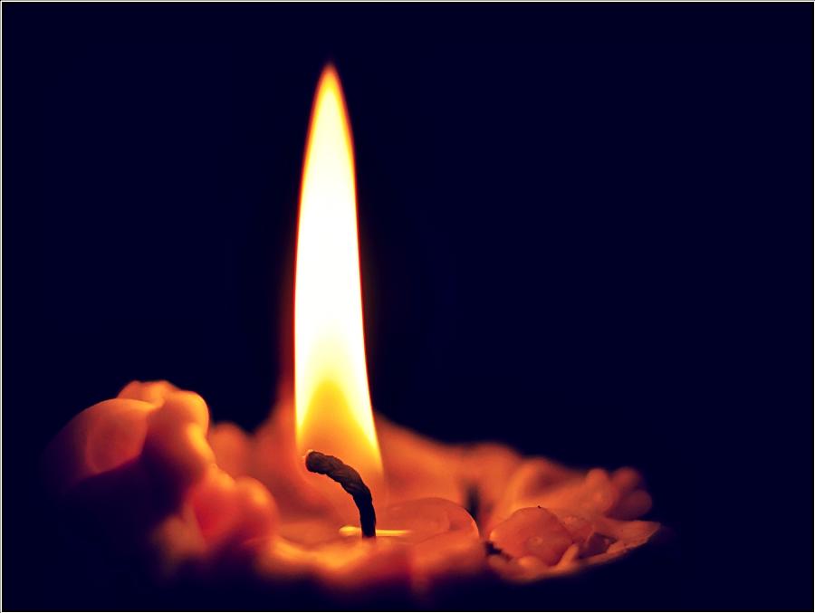 Ein Kerzenlicht