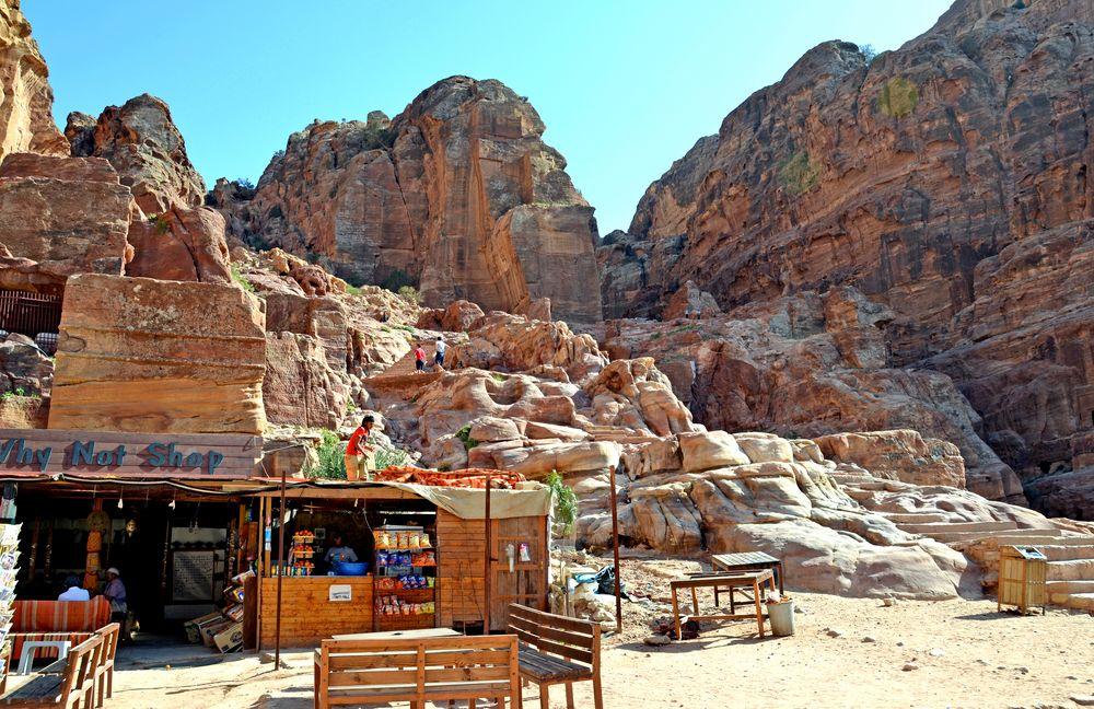 Ein Kiosk im Zentrum von Petra