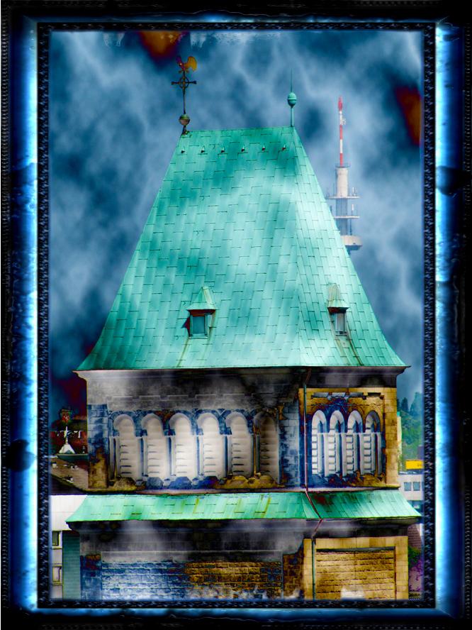 Ein Kirchturm