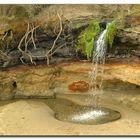 Ein kleiner mini Wasserfall