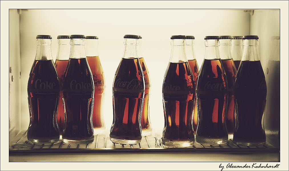 ein Kühlschrank voller Coke
