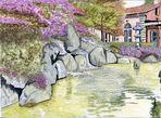 ein künstlich angelegter Teich in Interlaken