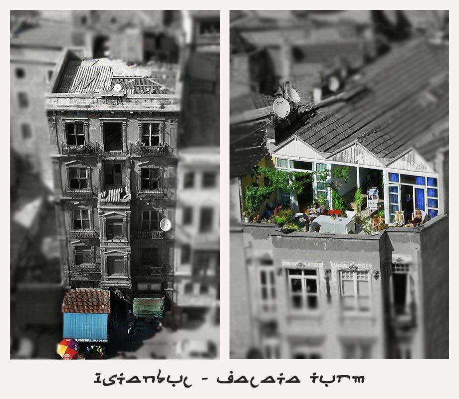Ein kurzer Blick vom Galata Turm