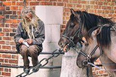 Ein Kutscher in Krakau (Cracow)